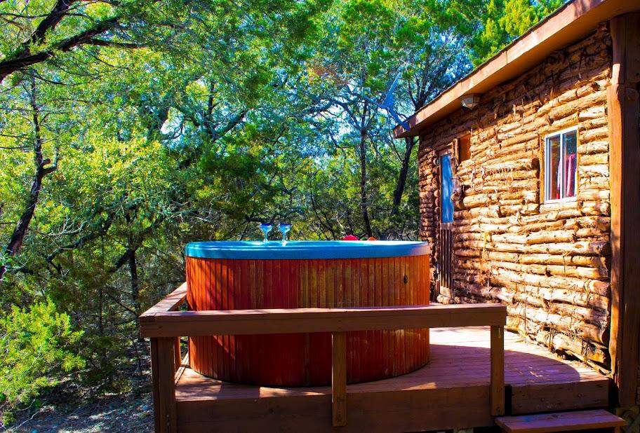 Cabins at smith creek wimberley texas log cabins Cabin creek 15