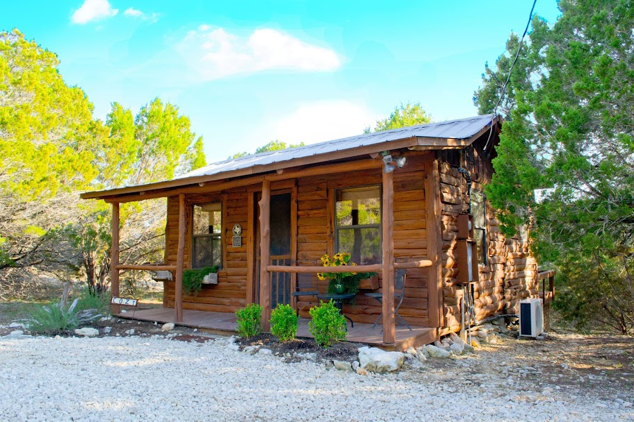 in wimberley creek cabins texas cabin at to cozy rent log smith